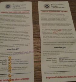 always searched by TSA and find possesions broken