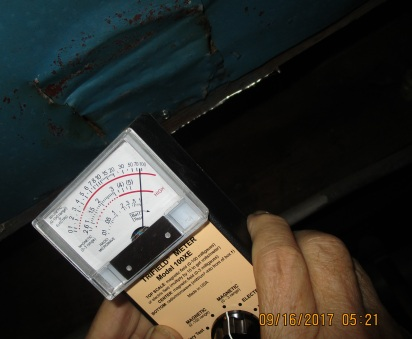 witness pulled off tape, notes new screw on cuts and registers danger levels with EMF