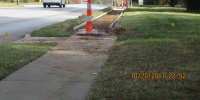 perfect walkways torn up
