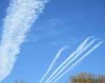 5 chemtrails above friends apartment house two days after Thanksgiving