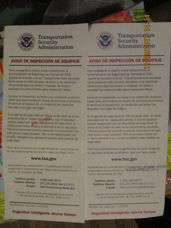 always investigated by TSA in Little Rock, Arkansas they have nothing better to do
