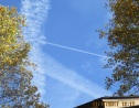 three chemtrails together