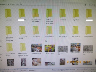 Hacked and emptied folders of photo-evidence from camera card only used in public computer- no internet at home.