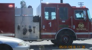 on way to library at corner of Sunshine and Campbell firetruck pulls up at red light siren blowing 5-31-2018