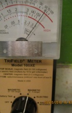 4pm at sink still high levels of whole house DEW unit magnetic radiation in danger but microwave and electric same