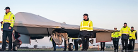 A covered BAE drone, right before flight