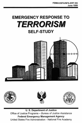 World Trade Center targeted on cover of FEMA Emergency Response brochure from 1999