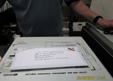 confirmation of mailing