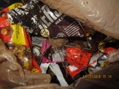 candy in yard from gangstalkers around fence line 12-12-18