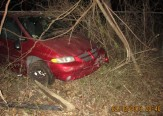 car crashes through 4foot fence taking out forty feet