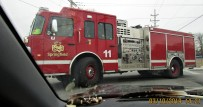 first corner in Springfield MO back from Arkansas visit- firetruck